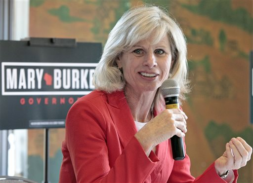 Democrat Mary Burke  has made Gov. Scott Walker's record the focus of her campaign. The Associated Press