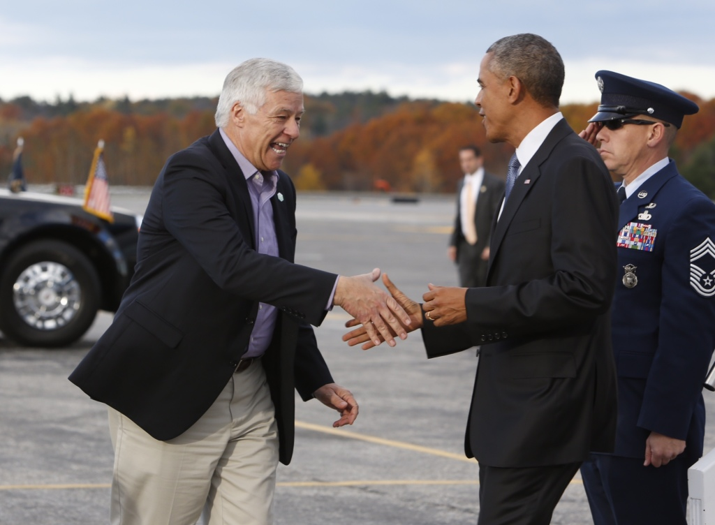 President Barack Obama, right, has announced that he will nominate former U.S. Rep. Mike Michaud, left, to a federal veterans post.