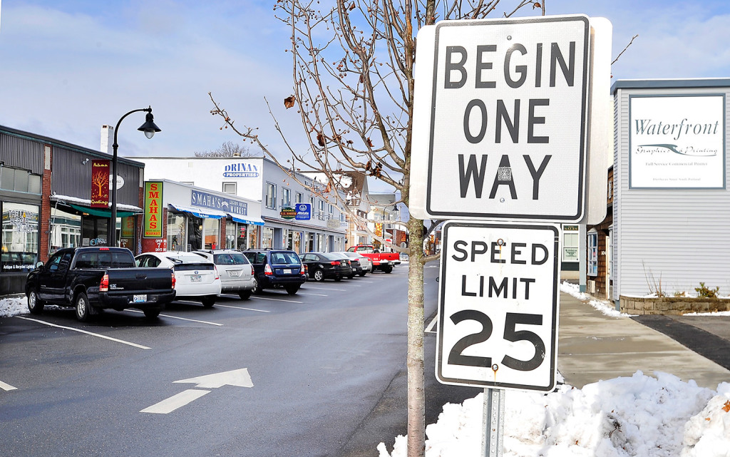 South Portland city councilors are considering a plan to replace 15 angled parking spaces on the west side of Ocean Street between D and E streets with nine parallel spaces.