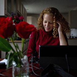 """Kaci Hickox speaks on the phone with a state health official Saturday to report that she has no symptoms of Ebola. Hickox hopes other health workers treating Ebola patients will be treated better than she has been. """"I know that won't happen today,"""" she said."""