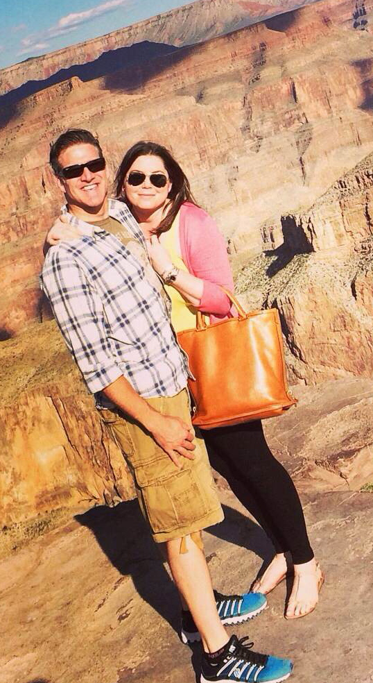 Brittany Maynard and her husband, Dan Diaz, pose at the Grand Canyon National Park in Arizona. The 29-year-old terminally ill woman ended her life via assisted-suicide Saturday in Oregon.