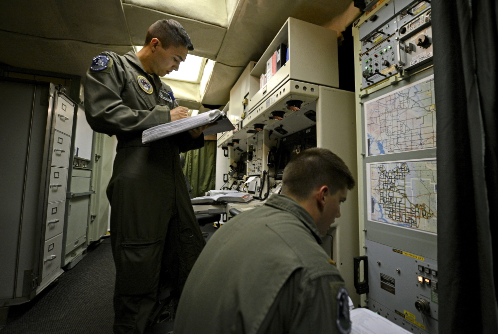 In arguably the military's most sensitive mission, Air Force officers work around the clock in the ICBM launch-control facility near Minot, N.D., where nuclear missiles are primed to unleash devastation on a moment's notice.