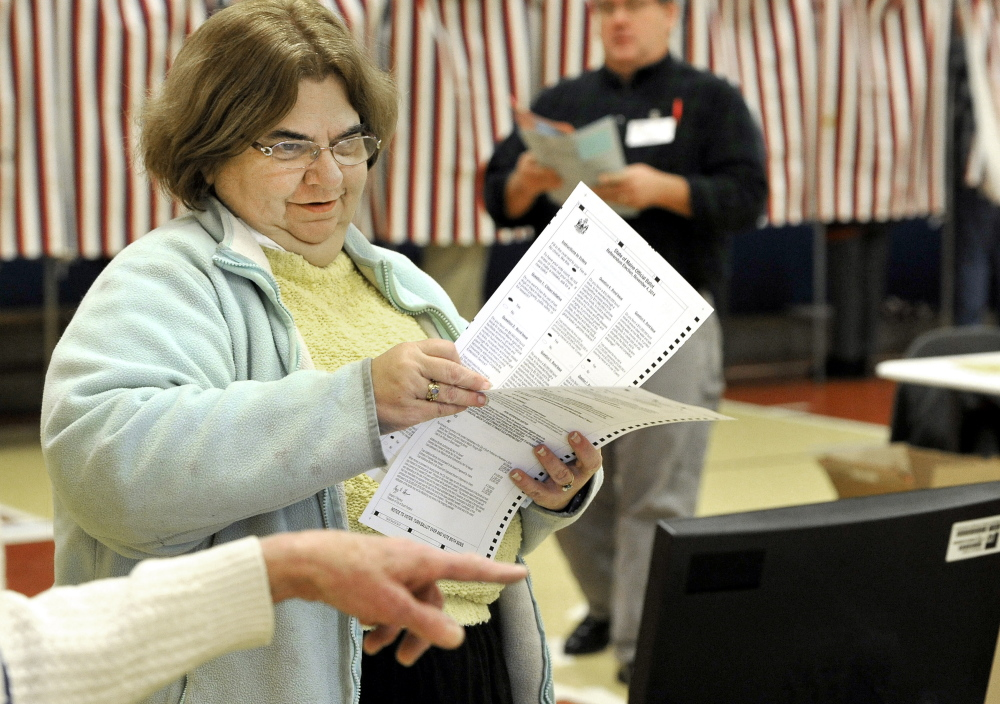 A change in governor was of concern to AnnElissa Leveque as she cast her ballots at the Boys and Girls Clubs in South Portland.