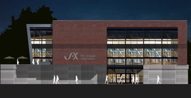 This rendering shows a proposed expansion of Jackson Lab.