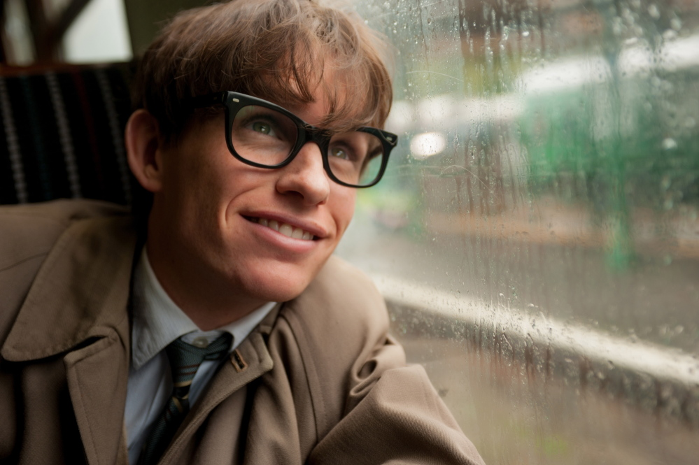 "Eddie Redmayne as Stephen Hawking in a scene from ""The Theory of Everything."" Redmayne portrays the physicist throughout the stages of his battle with ALS."