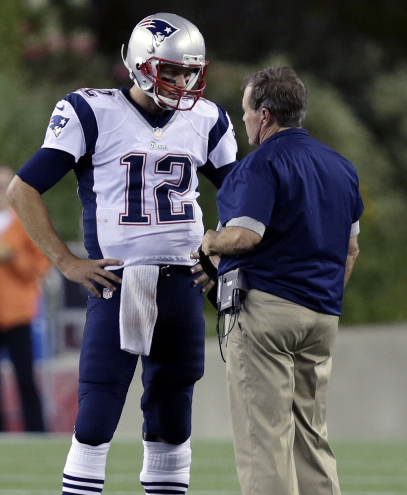 Coach Bill Belichick has his way of running the New England Patriots and it's worked, even down to sometimes criticizing quarterback Tom Brady in team meetings.