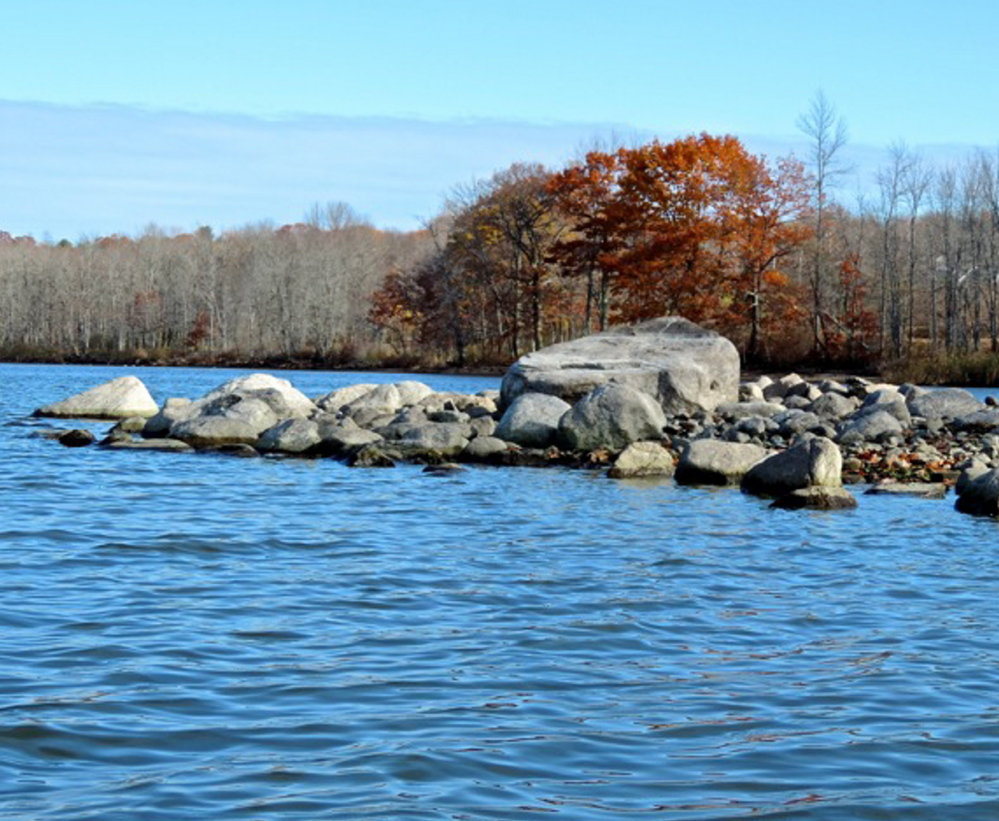 The people are gone, the bugs are gone and only the beauty of the fall season remains on the northeast shore of Sabattus Pond.