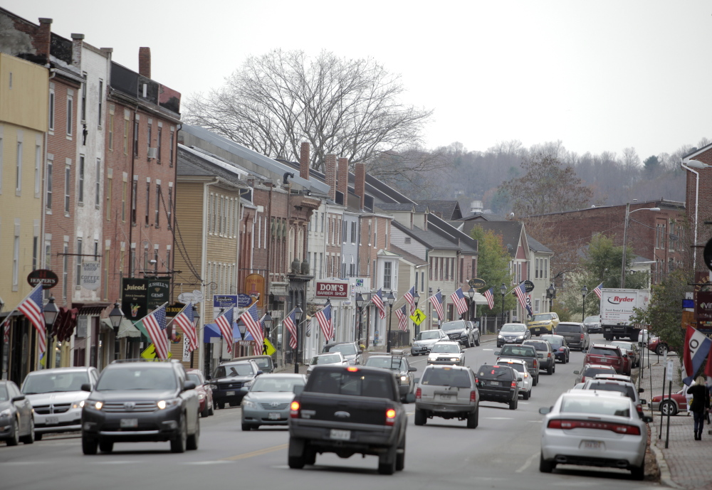 The town of Hallowell stands out as having the second-highest percentage of voters in the state who selected Democrat Mike Michaud in the Nov. 4 election.