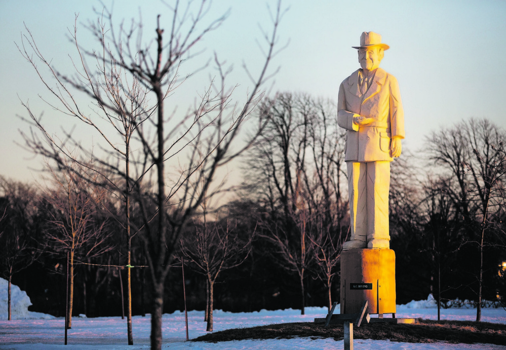A statue of Irving Oil founder K.C. Irving stands in Wolastoq Park in Saint John, New Brunswick. Born in Bouctouche, New Brusnwick, Irving started his entrepreneurial endeavors with a small family business that expanded into a multibillion-dollar empire.
