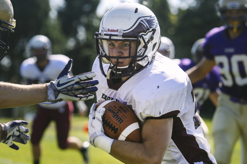 Dylan Koza could just have one of those days for Windham on Saturday against Thornton Academy in the Class A state final. Koza has rushed for 887 yards this season, posing the biggest ground threat for a team that has plenty of depth at running back.