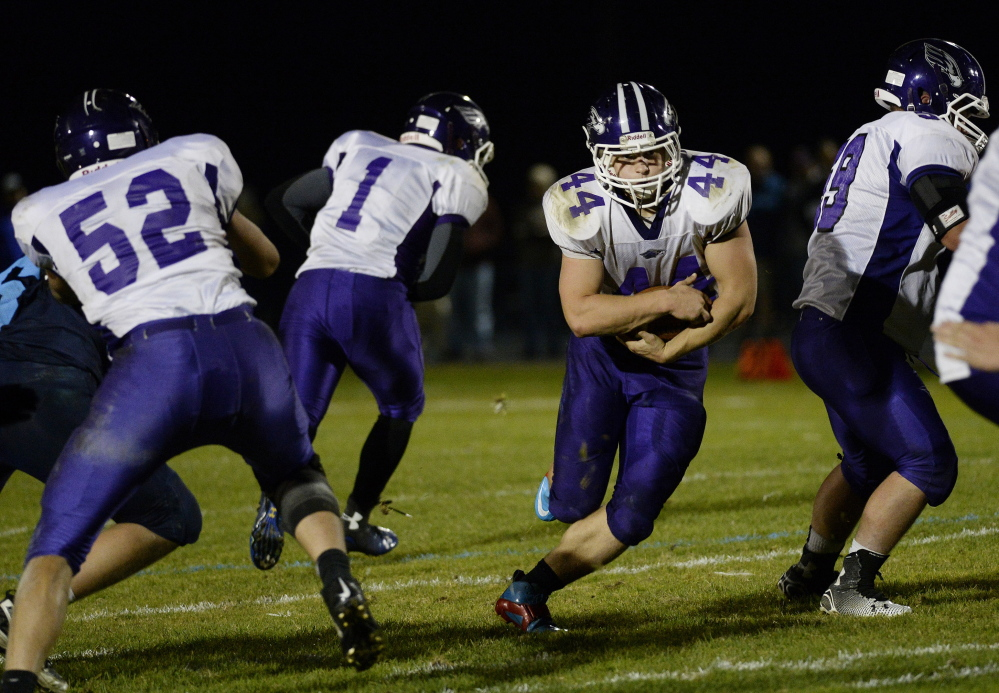 Brett Gerry has rushed for more than 2,000 yards despite limited playing time on offense because of Marshwood's penchant for blowing out opponents, and no one has found a way to slow him down.