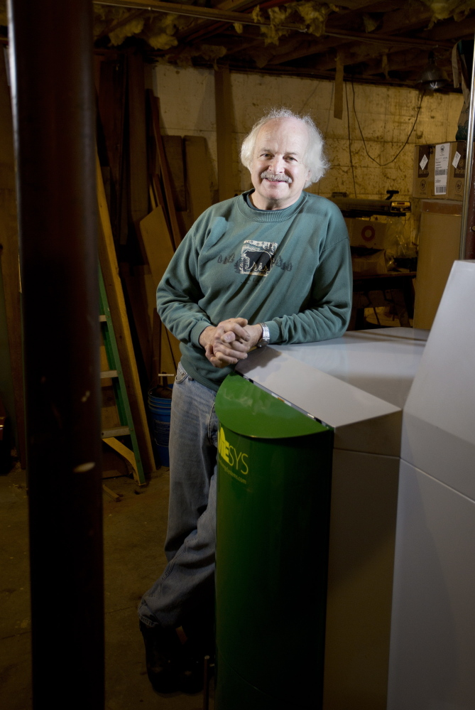 George Doughty, a plumber, became licensed to install wood-pellet boilers like this one to help make it through the recession. Now, Doughty says, he can't keep up with all the work available to him.