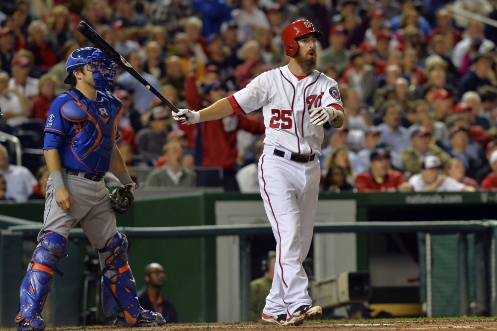 Adam LaRoche is leaving the Washington Nationals for the Chicago White Sox, where he'll likely be DH. He has 243 career homers and 833 RBI in 11 years with Atlanta, Pittsburgh, Boston, Arizona and Washington.