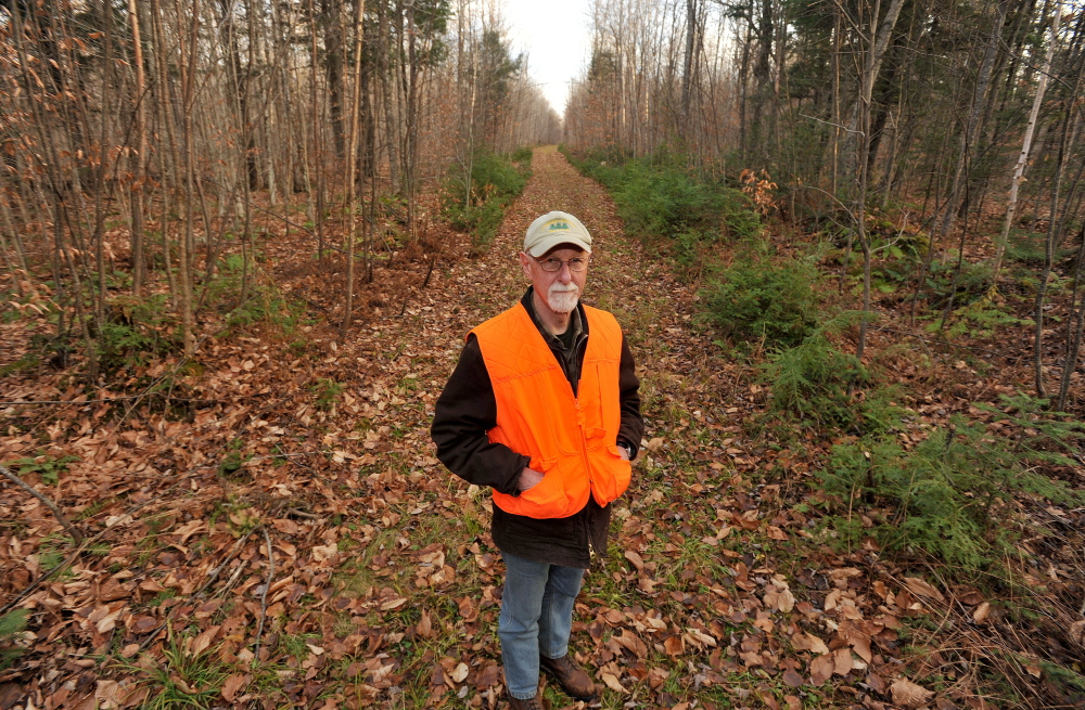 Roger Poulin, a member of the board of directors of the Somerset Woods Trustees, wants to promote and revitalize the trails at Coburn Woods in Skowhegan for public use.
