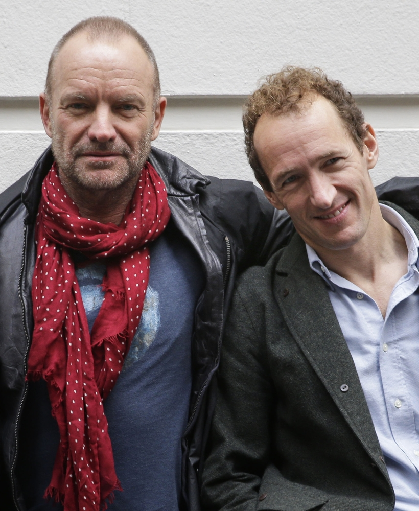 """Sting, left, and producer Jeffery Seller are hoping to lift ticket sales for """"The Last Ship,"""" for which Sting wrote the music and lyrics."""