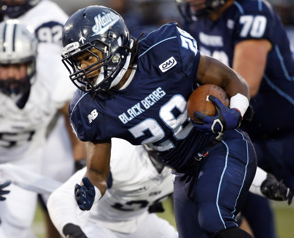 Maine running back Jerickson Fedrick was part of a young UMaine offense that averaged 259.1 yards and 16.4 points per game this season. The Black Bears finished 5-6.