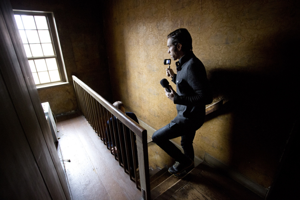 MikelParis of O.A.R. films a Web miniseries  in Portland on Tuesday.