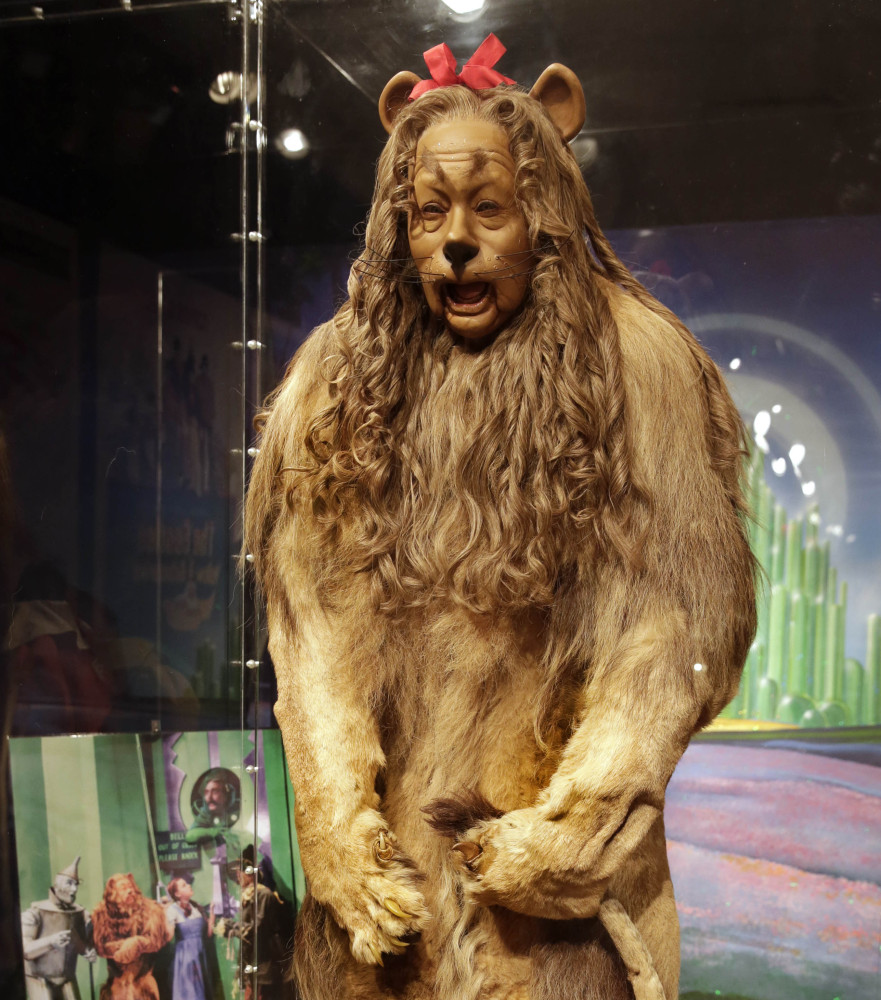 This Cowardly Lion costume worn by Bert Lahr sold for more than $3 million at a New York City auction.