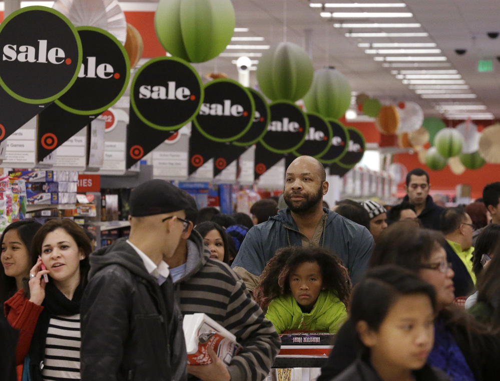 People will be crowding into department stores all over the country today, but Thanksgiving is still put aside for families and friends in Maine, which is something to celebrate.