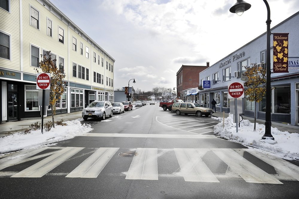 The South Portland City Council decided Monday night that two-way traffic will flow again through the center of the Knightville neighborhood. 2014 Press Herald file photo/Gordon Chibroski