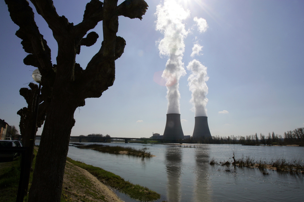 France gets more than two-thirds of its electricity from nuclear power — the highest proportion in the world. This is Belleville-sur-Loire's nuclear plant on the Loire River in central France. The Associated Press