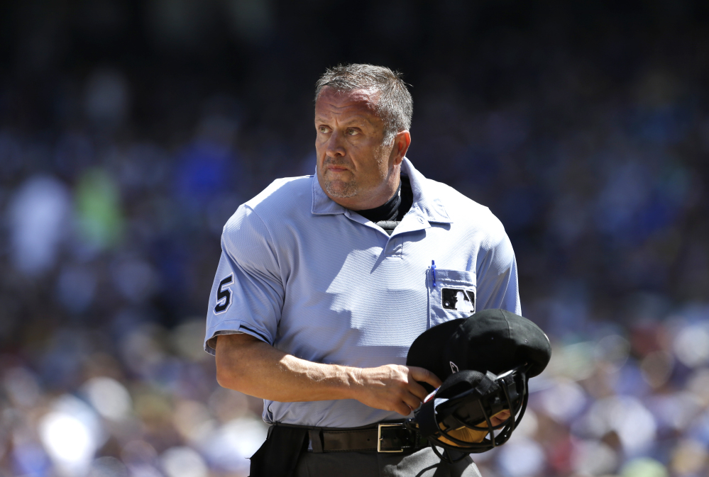 Veteran Major League Baseball umpire Dale Scott told the website Outsports.com that he married his longtime companion in November 2013.