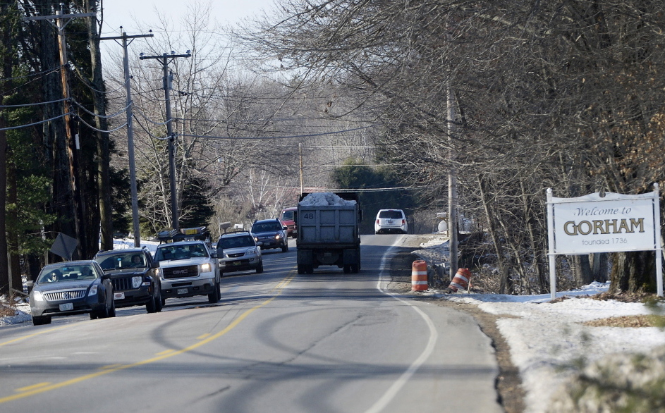 Congestion along County Road in Gorham and in nearby towns is prompting an effort to start implementing a 2011 study's recommendations.  The towns hope to coordinate long-term growth plans.