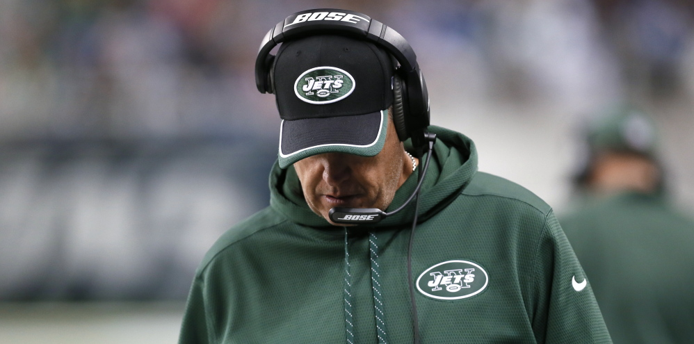 """New York Jets head coach Rex Ryan denied an SB Nation report that he and offensive coordinator Marty Mornhinweg are at odds, calling the report """"bogus."""""""