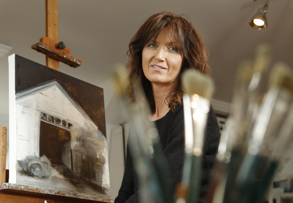 """Ingunn Milla Jorgensen, an artist from Kennebunkport, likes working with Art Collector Maine because she doesn't have to worry about social media or marketing her work. """"It's about getting the art out there and getting people aware and interested. They've succeeded in doing that,"""" she said."""