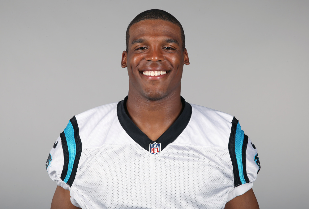 This is a 2014, file photo showing Cam Newton of the Carolina Panthers NFL football team.