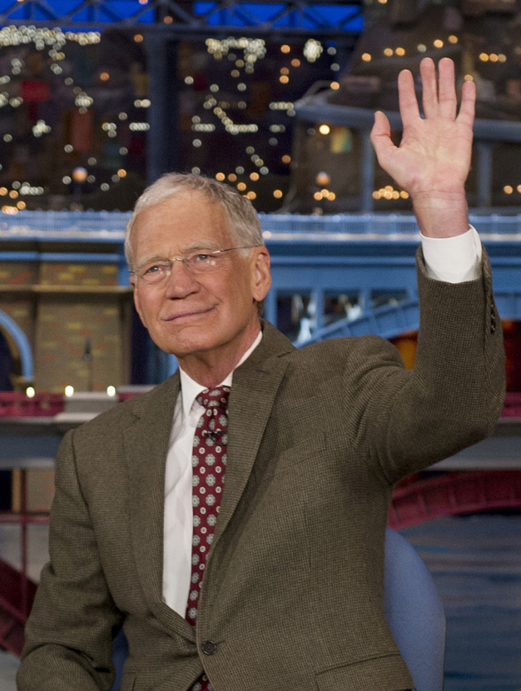 "David Letterman, host of the ""Late Show with David Letterman,"" will make his last broadcast on May 20."