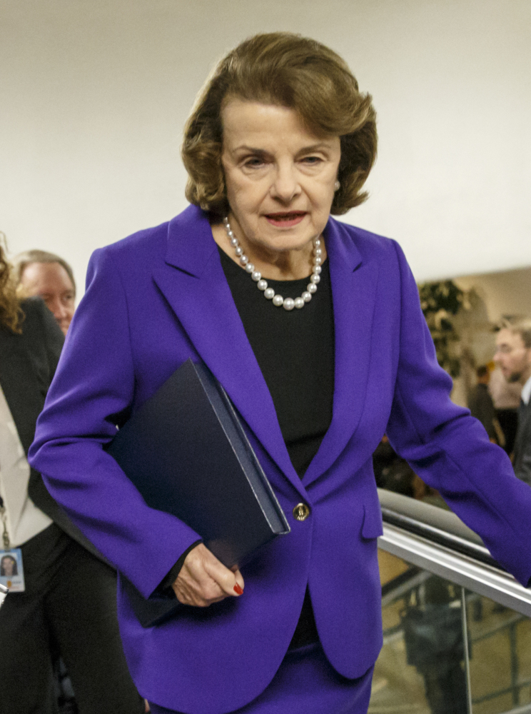 "Sen. Dianne Feinstein tweeted ""CIA had info before torture"" during CIA director John Brennan's news conference."