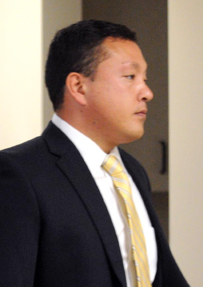 Marcus Kaarma, on trial in the murder of a German exchange student, is shown during an earlier court appearance in Montana.