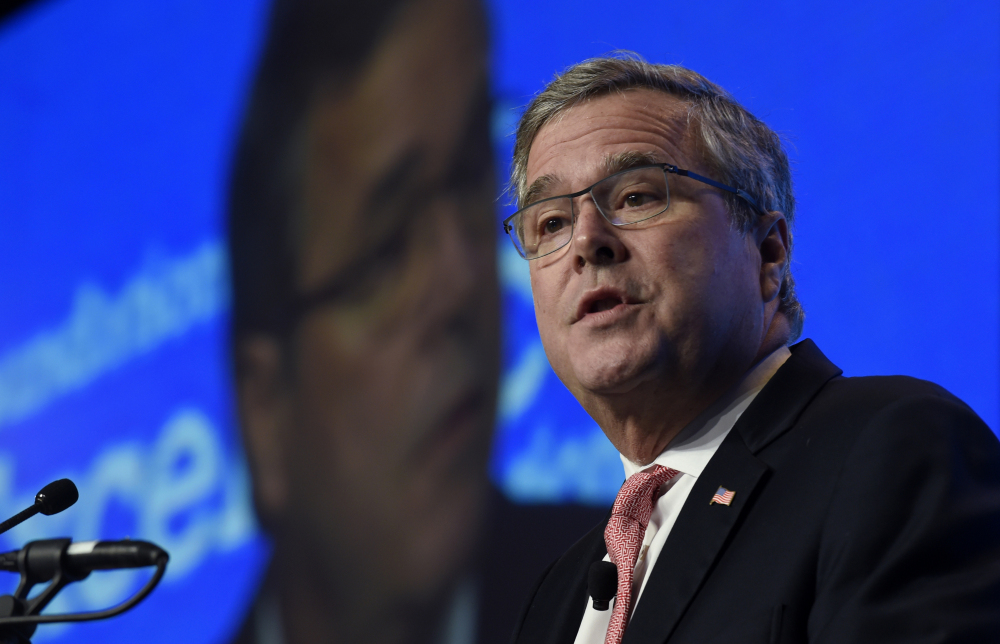In this Nov. 20, 2014 file photo, former Florida Gov. Jeb Bush speaks in Washington.