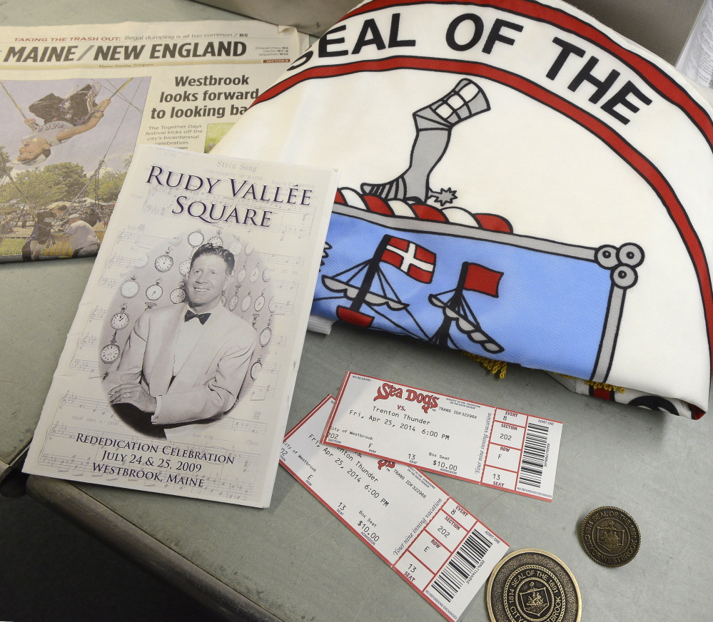 Items to go in the time capsule include bicentennial coins, a newspaper, a city flag, a ceremony program for a famed singer and former resident, and Sea Dogs tickets.