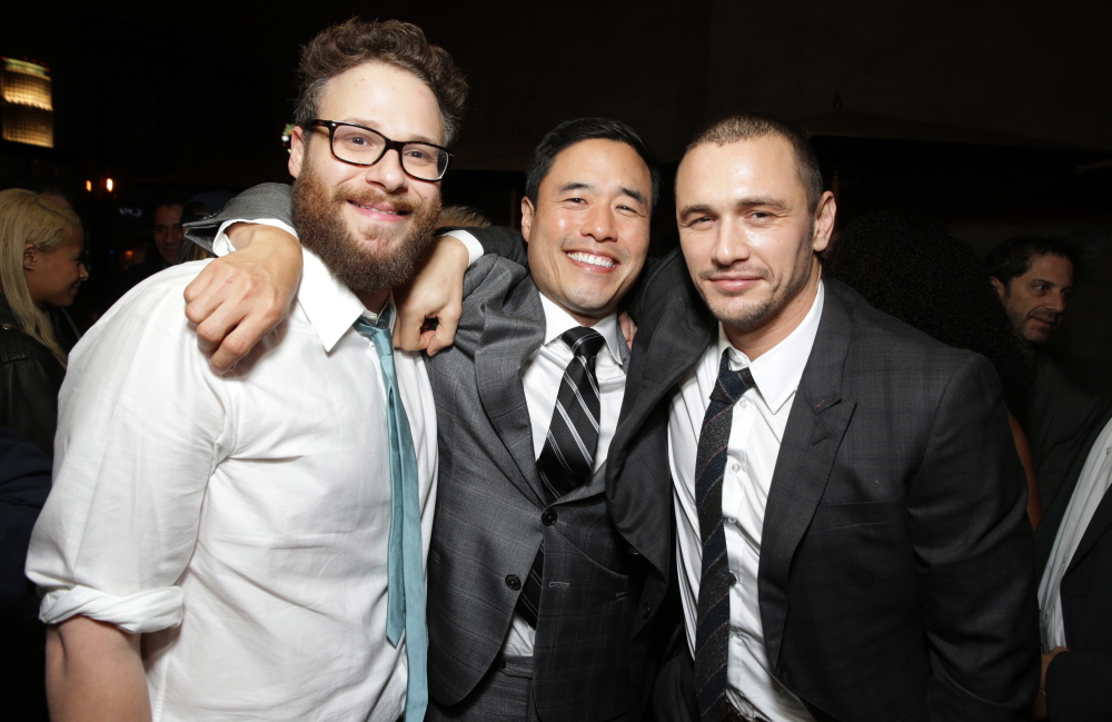 "Writer-director Seth Rogen and actors Randall Park and James Franco are the stars of ""The Interview,"" which a group has repeatedly made threats against."
