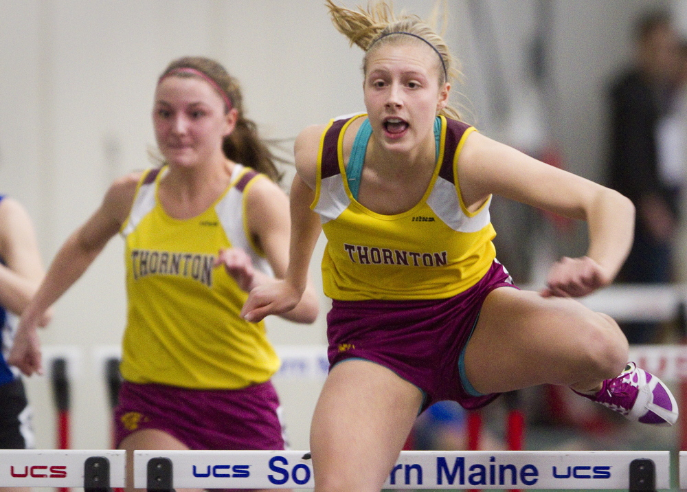 Tori Daigle of Thornton Academy did plenty last season and will be even tougher to beat as a senior. Daigle was the best in Class A in the 55-meter hurdles and long jump, and will look to better her record in the long jump.