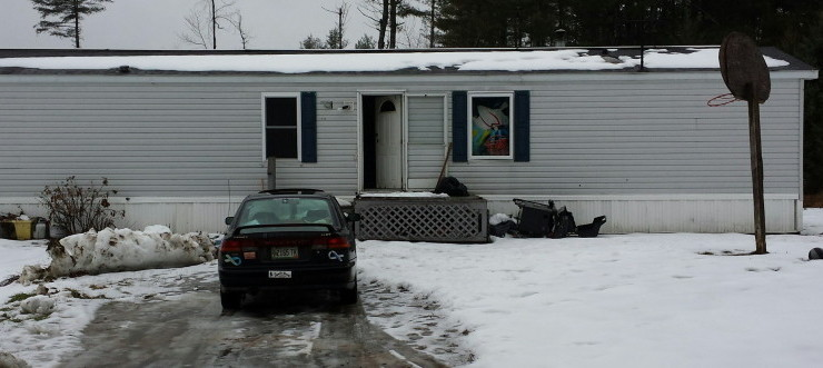 """Michael Kartman returned Tuesday to find his mobile home on Webber Pond Road in Vassalboro had been destroyed by vandals. """"It looks like something that a kid would do who just was angry at the world or something,"""" he said."""