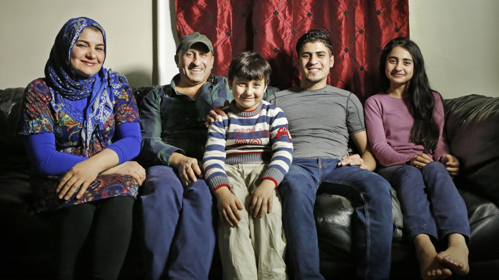 :Fouad Abdullah, second from right, and his family, are from left: his mother Hannan Shafeek; his father, Mohammed Mohammed; his brother Murad Abdullah and sister Doaa Abdullah.