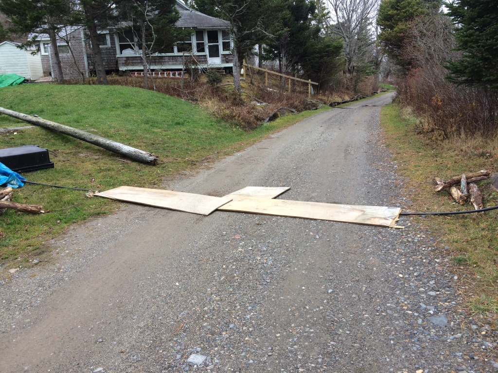 On Monhegan Island, Fairpoint reportedly used plywood to cover active phone lines so that residents could still use the road.