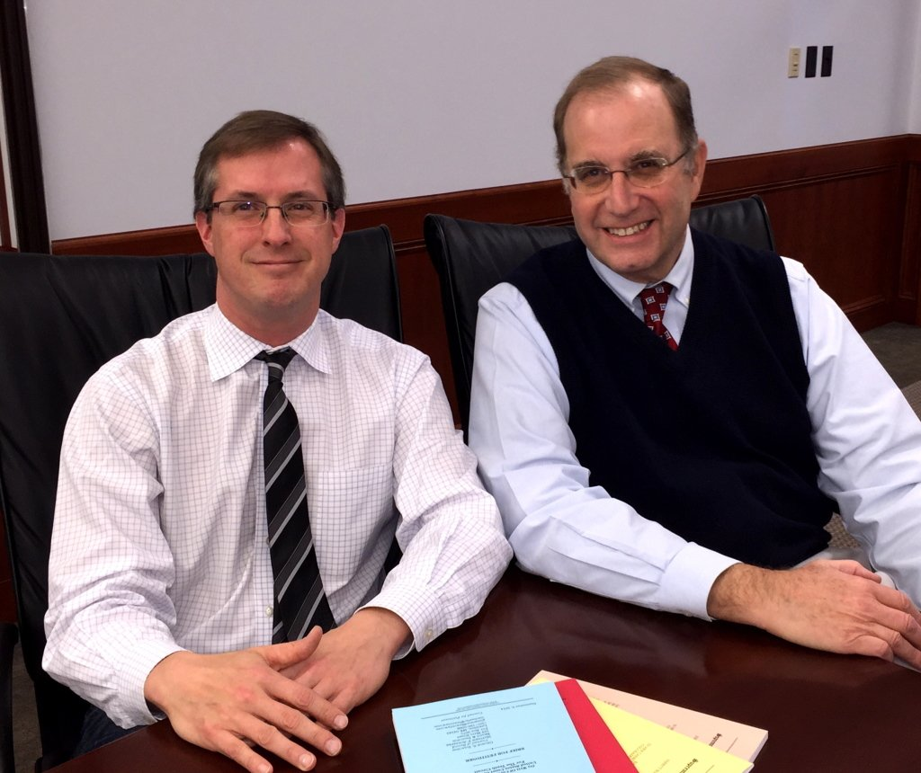 George Isaacson (right) and Matthew Schaefer. Courtesy photo.