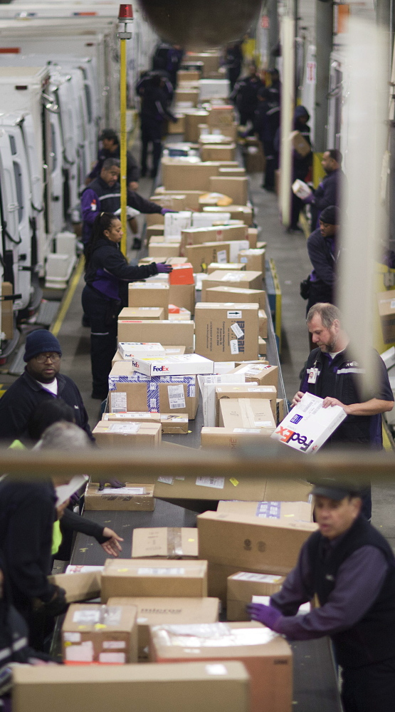 FedEx and UPS wrap up season on a cheery note - Portland Press Herald