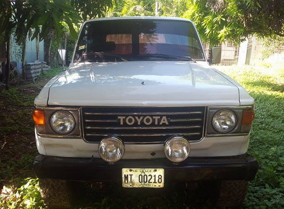 Joe Turcotte photographed these Toyota Land Cruisers in Nicaragua before he had them shipped to Maine, to be fixed up and sold as part of a fledgling business. But they were held up in New Jersey because scraps of wood used as wheel blocks had not been treated for pests.