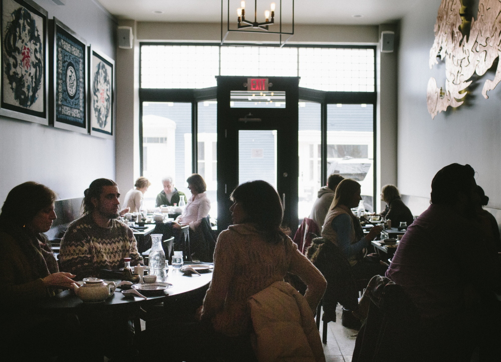 The 20 tables at Bao Bao fill with diners savoring traditional Chinese dumplings.