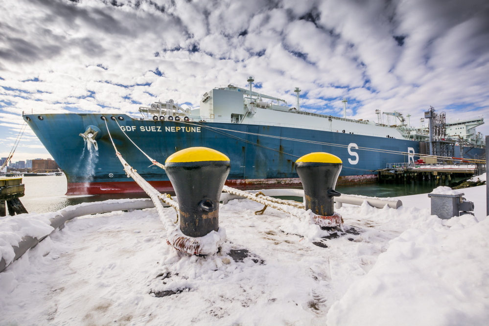 Coming from Trinidad and Tobago, the GDF Suez Neptune delivers 3 billion cubic feet of liquefied natural gas to Everett, Mass., last weekend. It was the tanker's second delivery last month.