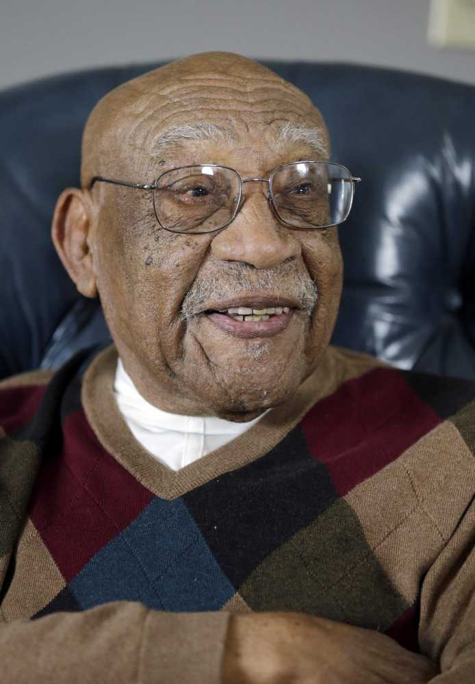 Charlie Sifford talks during an interview at his home in Brecksville, Ohio, in November, the month when President Obama presented him with the Presidential Medal of Freedom.