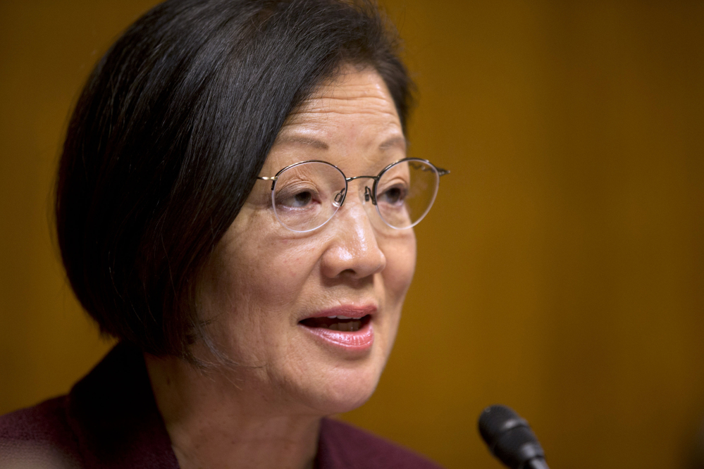 """Sen. Mazie Hirono, D-Hawaii, said, """"This is like 'Groundhog Day' """" on Thursday, likening a vote on Homeland Security funding to a movie in which the protagonist is caught in a time loop and must repeat the same day again and again."""