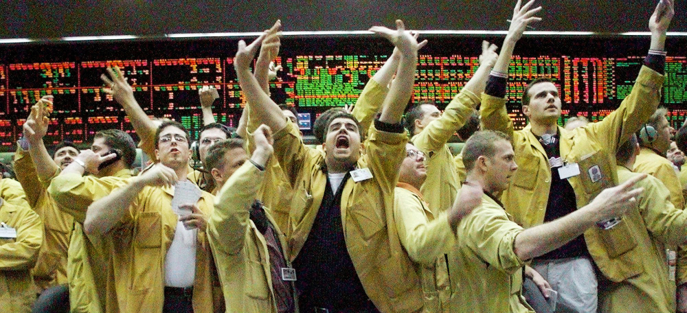 """In 1999, the floor of the Chicago Mercantile Exchange was like """"playing basketball while doing math in your head,"""" said trader Mark Schwartz."""