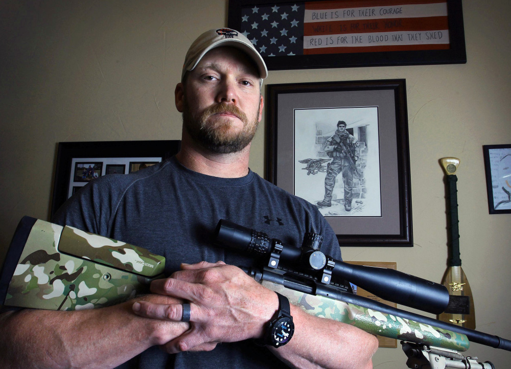 """Chris Kyle, seen in 2012, was a former Navy SEAL and author of the book """"American Sniper."""""""