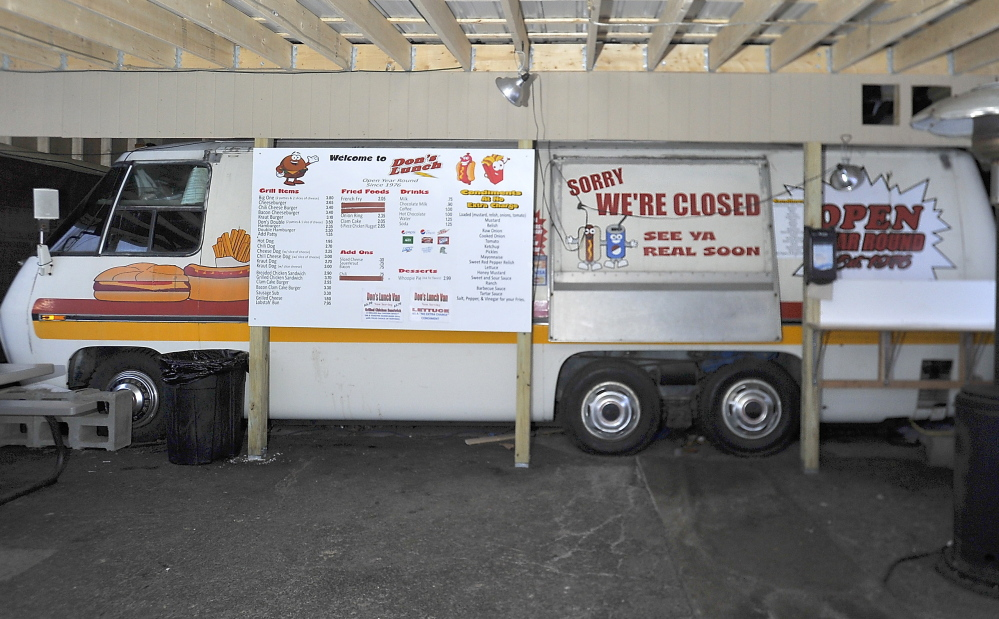 Don's Lunch Van sits idle Friday after the state shut it down.